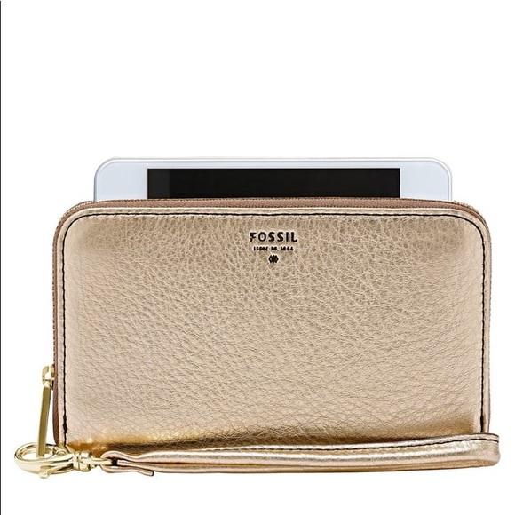 Fossil Sydney Zip Phone Wallet  SL4751 | Gold
